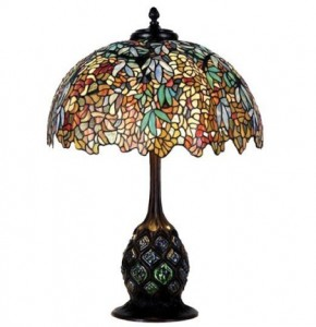 Tiffany Style Lamp Wisteria Pattern