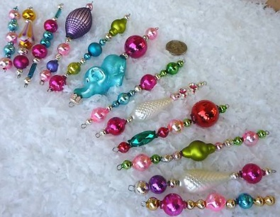 Vintage Christmas Icicle Ornaments