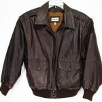 Vintage Leather Jacket Bomber Jacket for Men