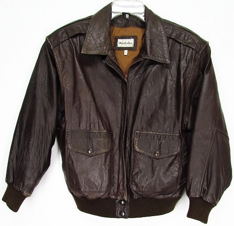 Vintage Leather Jacket Bomber Jacket for Men