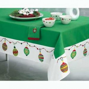 Vintage Christmas Tablecloth 300x300 Vintage Christmas Tablecloth