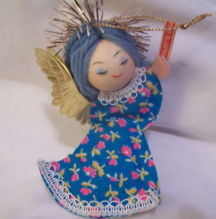 Vintage Christmas Ornament Angel available from Ebay (1960's)