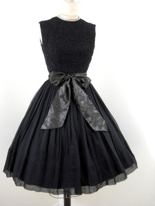 Vintage 50's little black cocktail dress