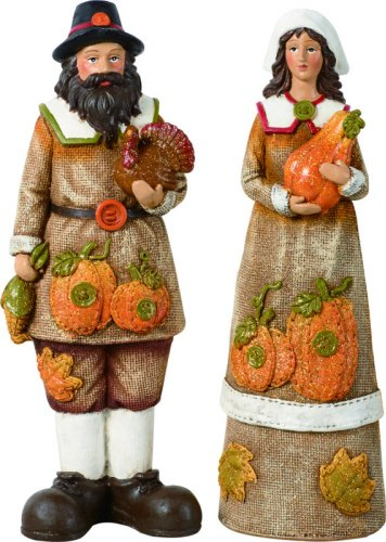 Pilgrims Thanksgiving Figurine