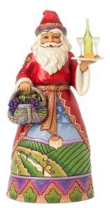 Jim Shore Heartwood Creek Not Old, Just Vintage Vineyard Santa with Grape Basket Figurine