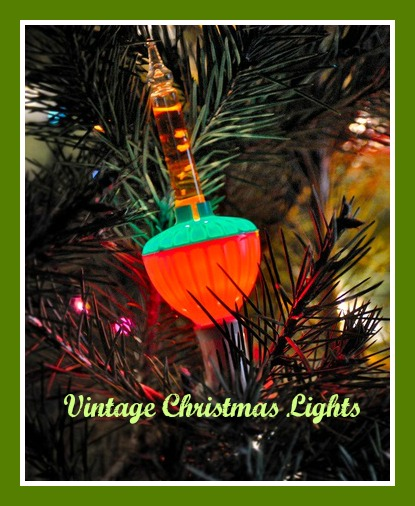 Authentic vintage christmas tree lights