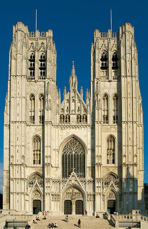 Cathedral of St. Michael and St. Gudula in Brussels, Belgium. Source: I, Luc Viatour GFDL, CC-BY-SA-3.0, Wikimedia Commons