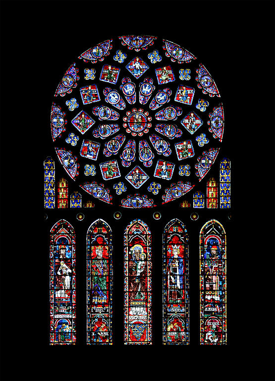 Northern rose window of Chartres Cathedral. Source: This photo was taken by Eusebius (Guillaume Piolle), Wikimedia Commons, Public Domain