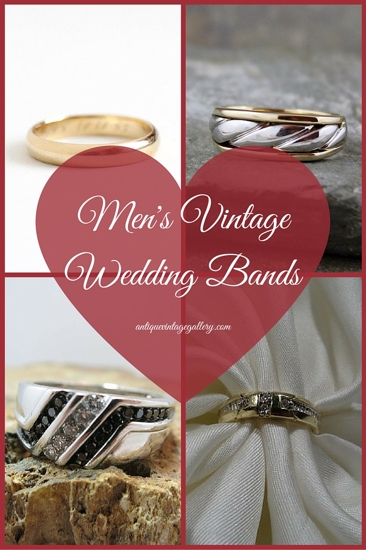 Mens Vintage Wedding Bands