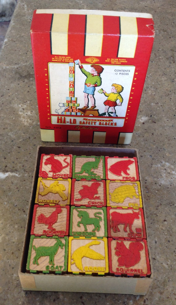 Vintage Animal Blocks
