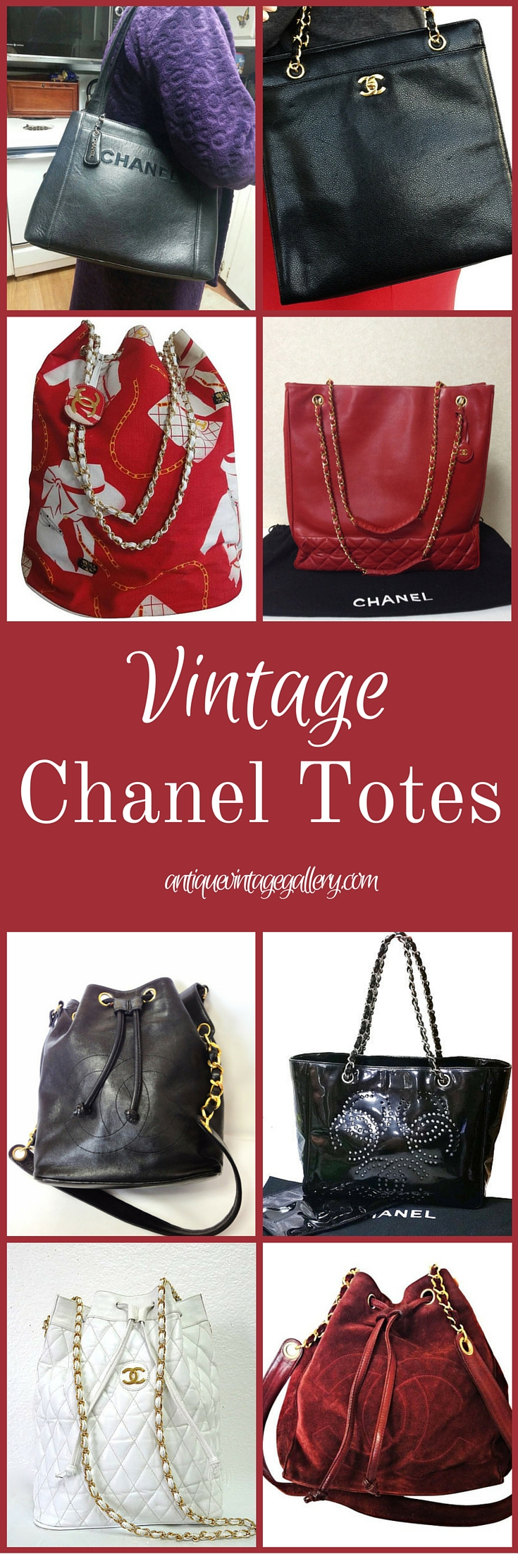 Vintage Chanel Tote Bags