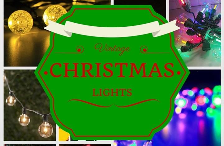 Authentic Vintage Christmas Tree Lights