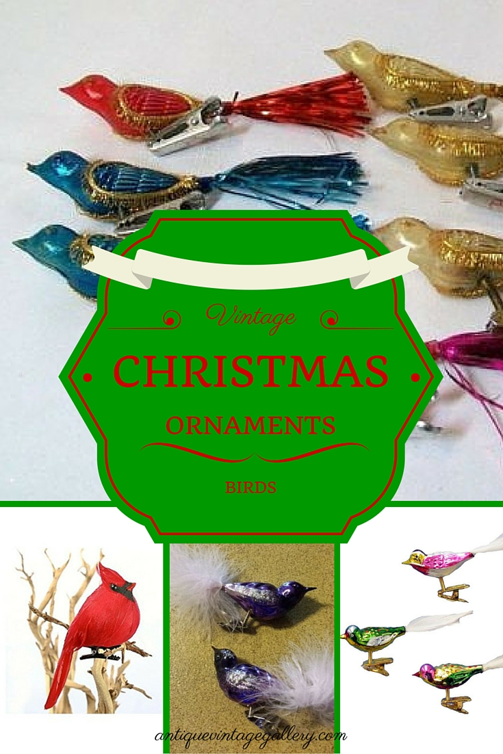 vintage christmas ornaments birds - Bird Christmas Tree Decorations