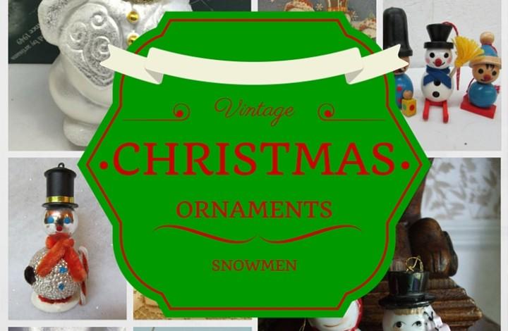 Vintage Christmas Ornament: Snowman