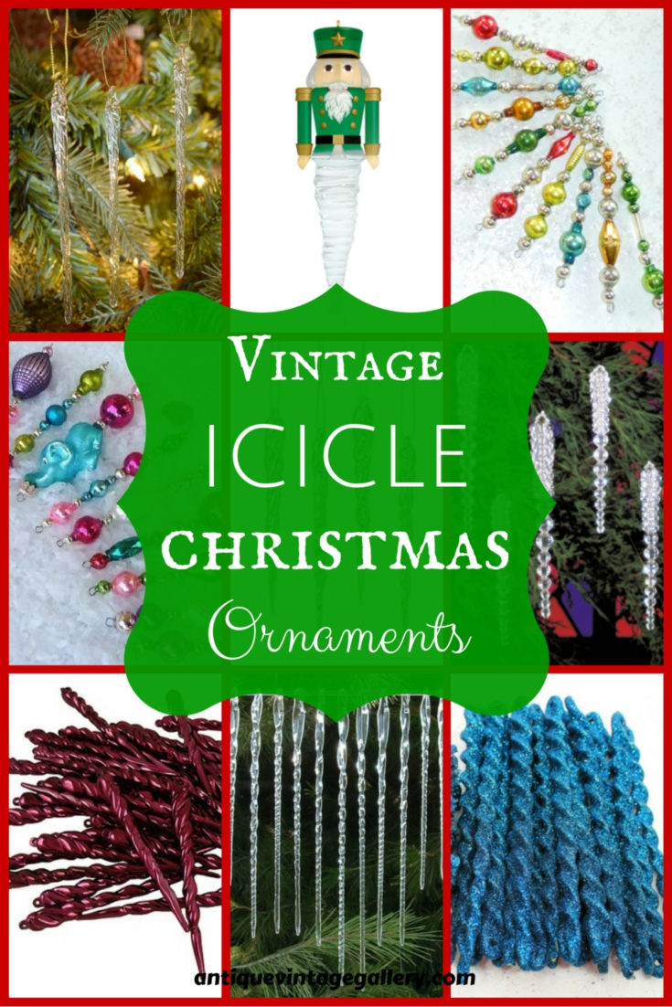 Vintage Icicle Christmas Ornaments
