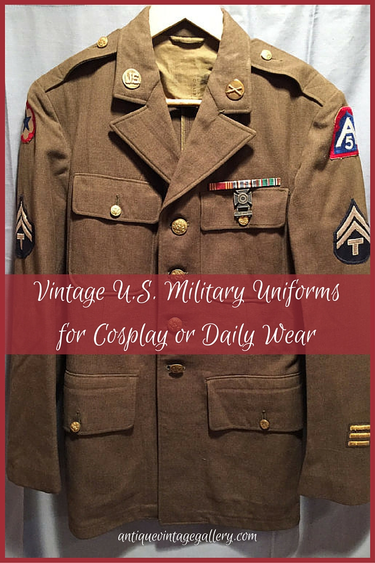 Vintage U.S. Military Uniforms for Cosplay or Daily Wear