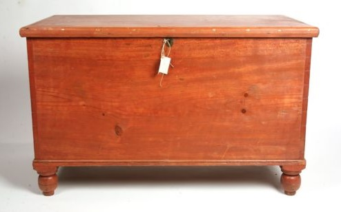 Early American Six Board Chest