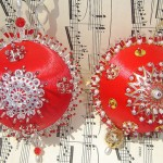 Vintage Christmas Beaded Ornaments
