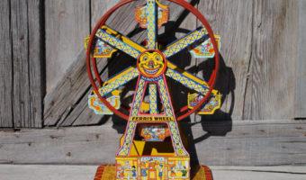 Vintage J. Chein Toy Ride the Rocket | Ferris Wheel | Merry Go Round | Roller Coaster