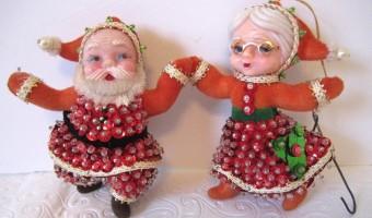 Vintage Christmas Ornament: Santa Claus