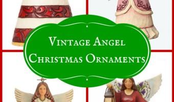 Vintage Angel Christmas Ornaments