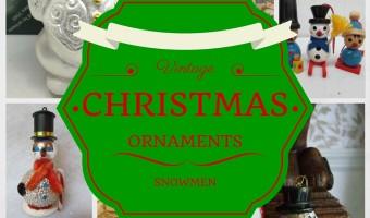 Vintage Christmas Ornaments Snowmen